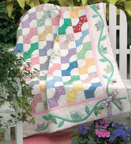 Buds N Bow Ties Quilt Pattern