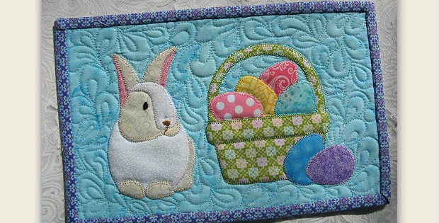 A Darling Bunny Mug Rug For Easter Or Anytime Quilting