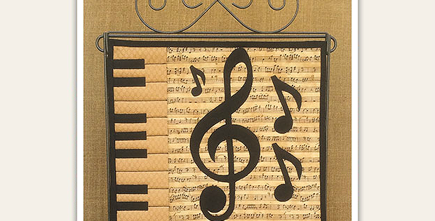 A Charming Wall Quilt for Music Lovers - Quilting Digest : quilt music - Adamdwight.com