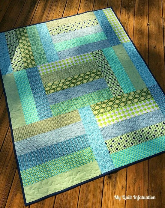 Strip Tango Baby Quilt