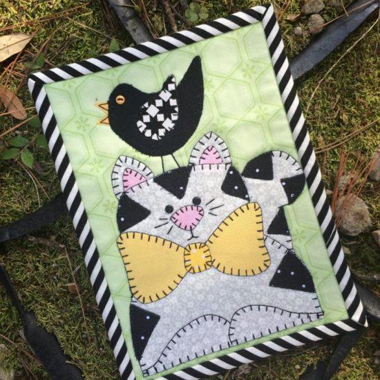 Kitty and Chip Mug Rug Pattern