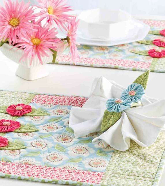 Springtime Place Mats and Napkin Rings