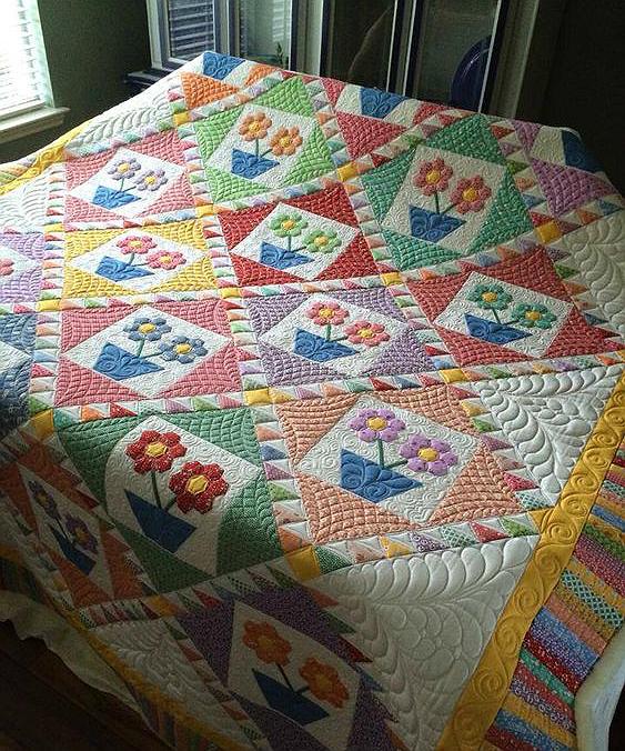 Grandmother's Flowerpots Quilt Pattern