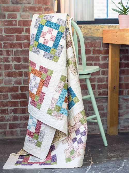 Nine Patch Garden Quilt Pattern