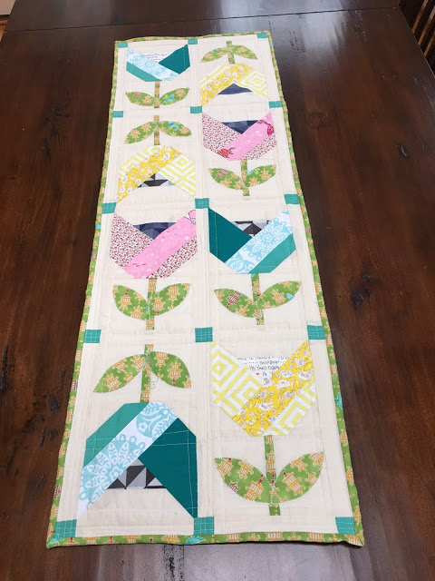 Dutch Tulips Table Runner