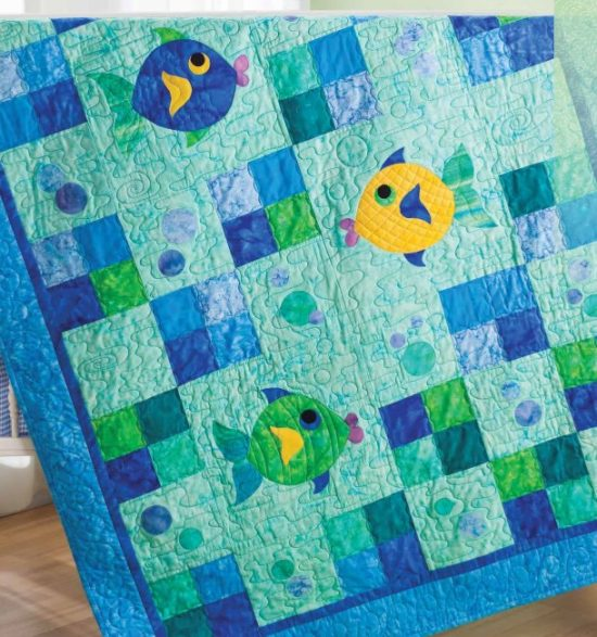 Fish and Bubbles Quilt
