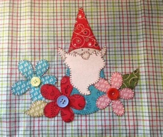 Garden Gnome Applique Pattern