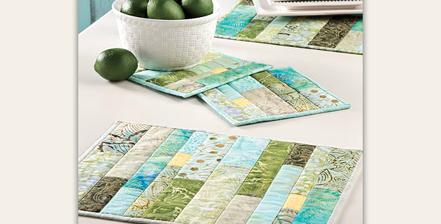 Green Tea Place Mats and Hot Pads