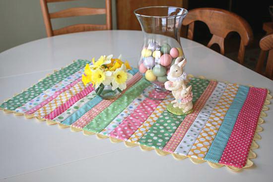 Easy Easter Table Runner