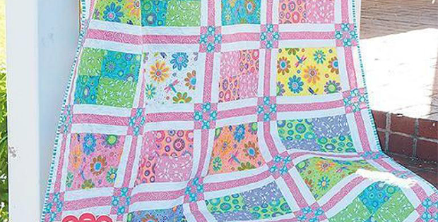 Quilting Digest Free Patterns : Feature Large-Scale Prints in This Pretty Quilt - Quilting Digest