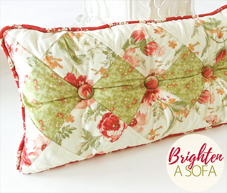 Diamond Tufted Pillow Tutorial