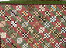 4-Patch and Furrows Quilt Pattern