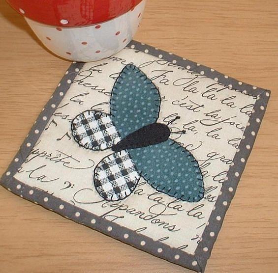 Butterfly Patch Coaster Pattern