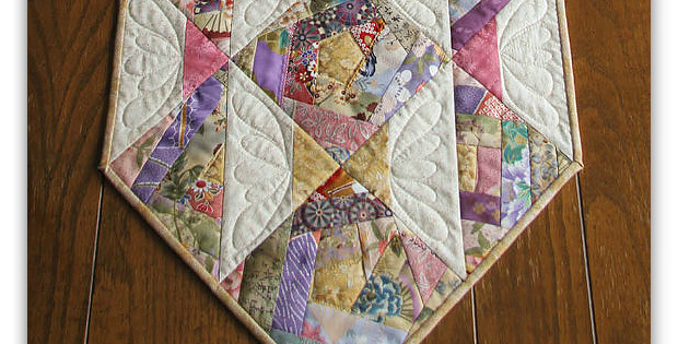 Crazy Quilt Pattern Fabric : Crazy Quilt Blocks Make a Lovely Runner - Quilting Digest