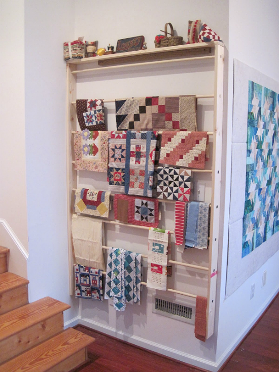 Sewing Room Wall Rack