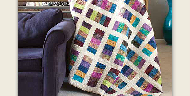 Pre Cut Strips Make This A Super Easy Quilt Quilting Digest