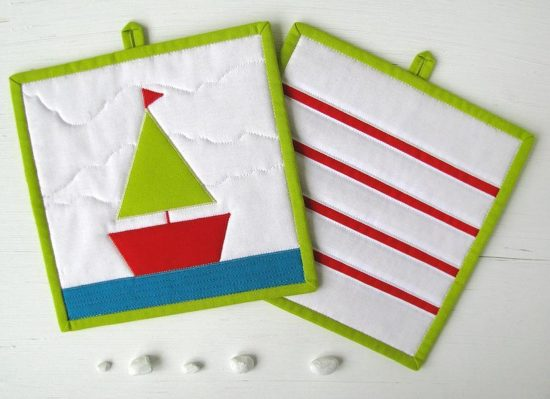 Ship Potholder Pattern