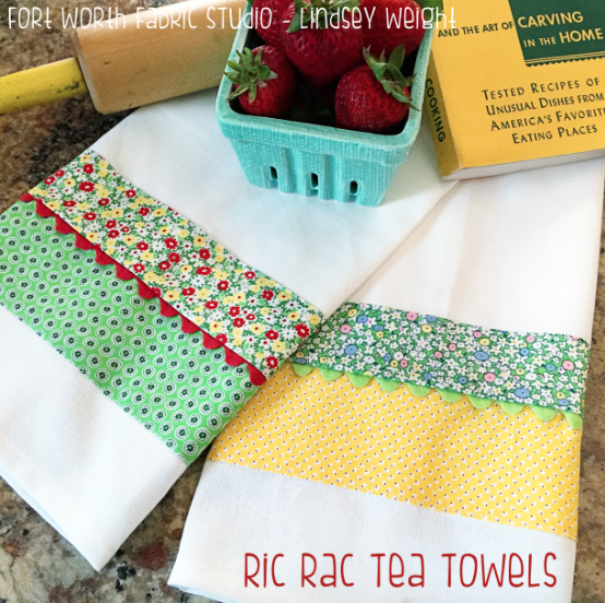 Ric Rac Tea Towels Pattern