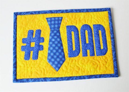 #1 Dad Mug Rug Pattern