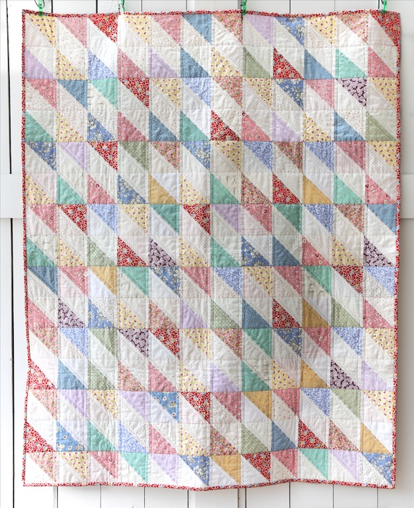 1930's Style Diamond Scrap Quilt