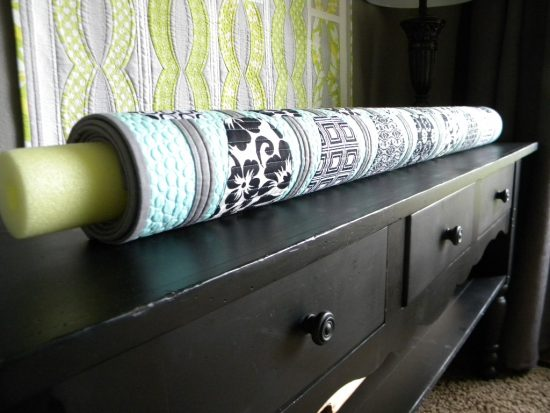 Store Quilts Around Pool Noodles