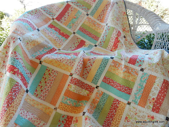 Make an Easy and Lovely Quilt from a Jelly Roll - Quilting Digest : uniquely yours quilt shop - Adamdwight.com