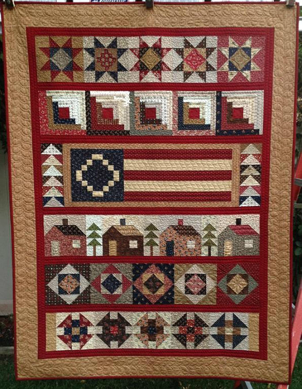 Quilt Patterns For Homespun Fabric : Rustic Fabrics Create a Homespun Quilt - Quilting Digest