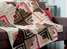 Contrasting Cabins Quilt Pattern