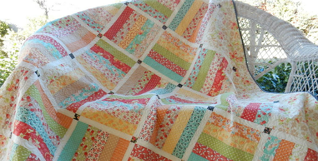 Make an Easy and Lovely Quilt from a Jelly Roll - Quilting Digest : quilting jelly roll - Adamdwight.com