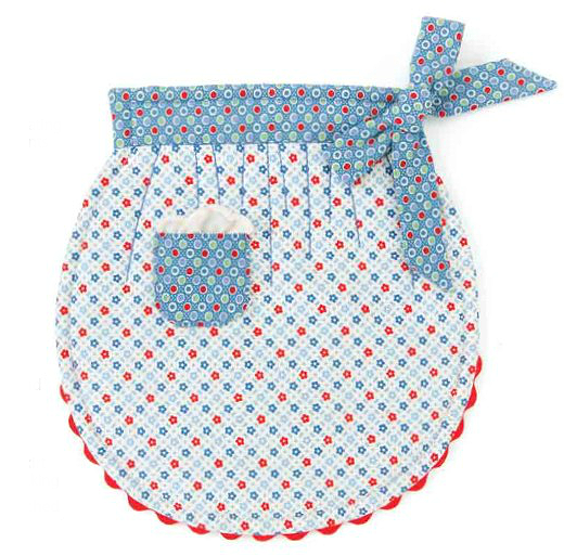 Mom's Rickrack Apron Pot Holder