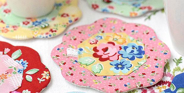 Pretty flower coasters are a breeze to make quilting digest pretty flower coasters are a breeze to make mightylinksfo