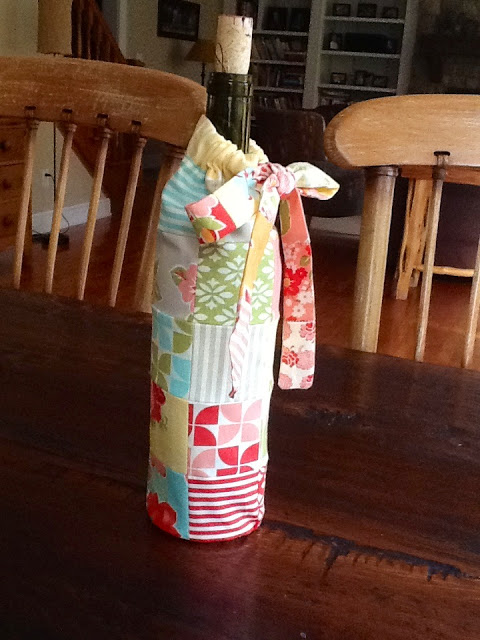 Patchwork Wine Bag