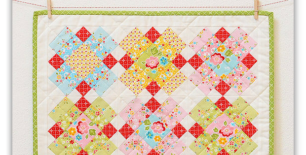 Make an Easy Little Quilt from Your Prettiest Fabric