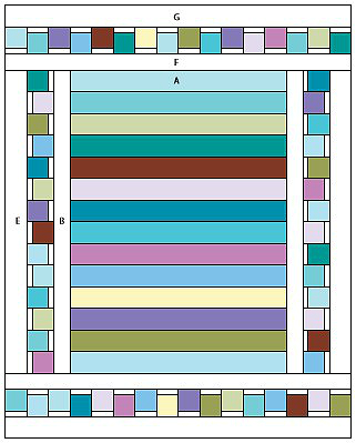 Quite Contrary Quilt Layout
