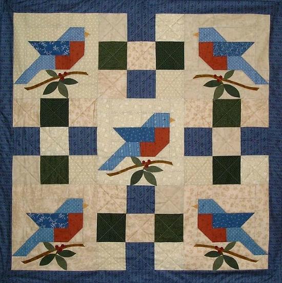 Summer's Song Bluebird Quilt Pattern