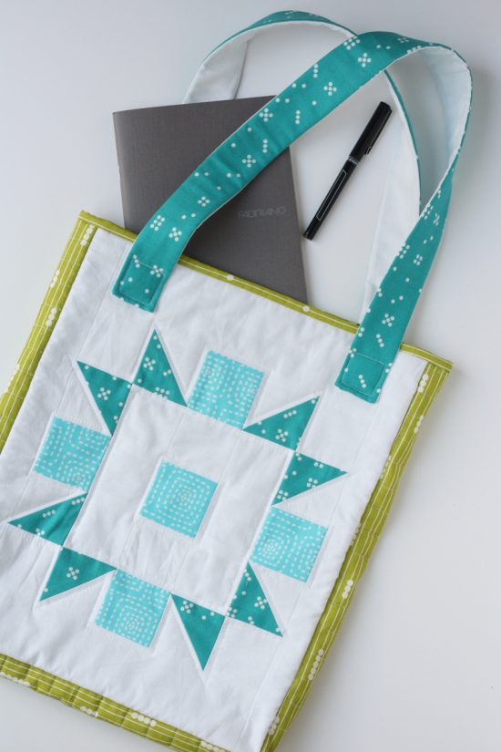Quilted Tote Bag (From Any Quilt Block) Tutorial