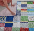 How to Fold a Quilt to Minimize Creases