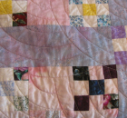 Quilt with Bleeding Dye