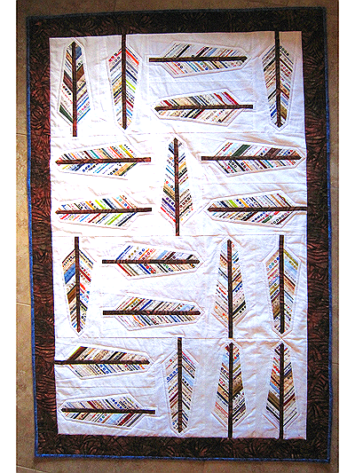 Audubon Selvage Feather Quilt