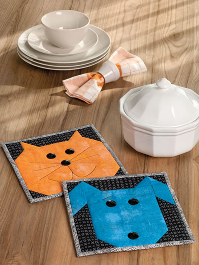 Please Feed the Animals Pot Holder Set
