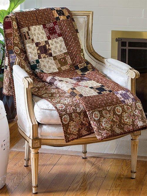 Warm rich colors evoke grandma 39 s quilt quilting digest for Jardin woolens