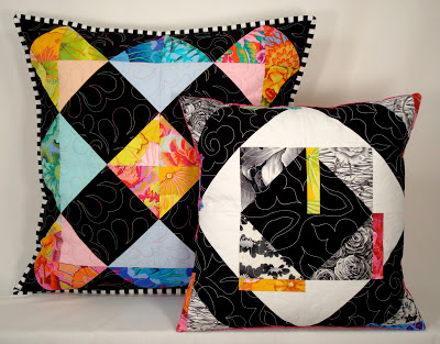 Pillows from Facets Quilt Pattern