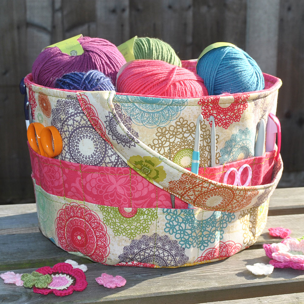 Quilted Knitting Bag Pattern : Knitting tote bag yarn crochet autos post