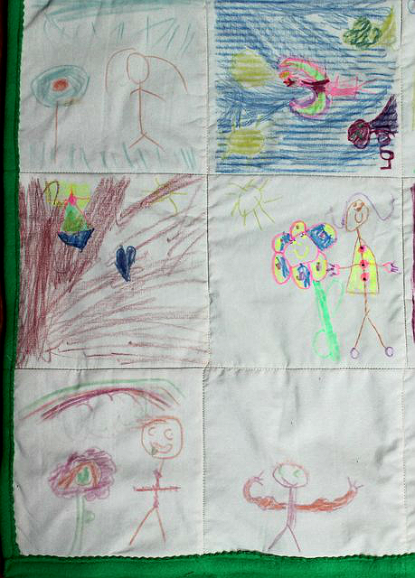 Quilt Blocks from Kids' Drawings