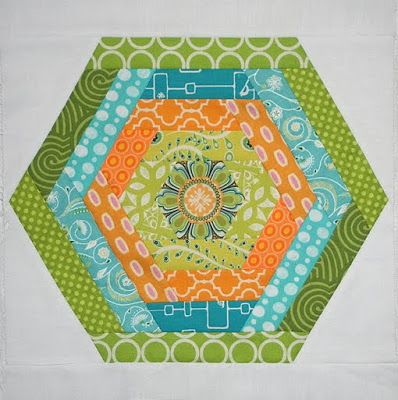 Hexie Quilt Block