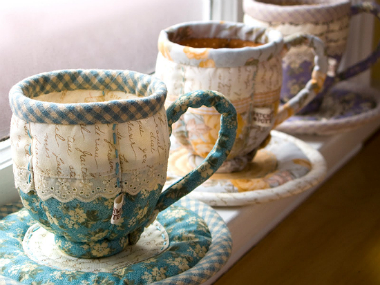 Quilted Teacups