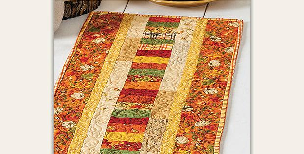 Autumn Roads Table Runner Pattern