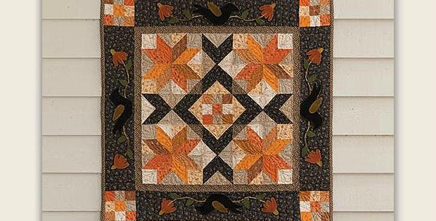 Black Bird Autumn Quilt Pattern
