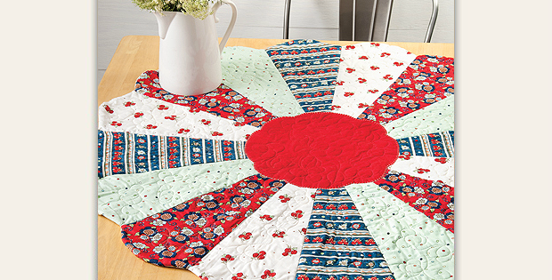 Quilted Round Table Toppers.Dress Up Your Table With An Easy Round Topper Quilting Digest