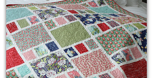 An Easy Quilt For Your Prettiest Fabrics Quilting Digest Adorable Easy Quilt Patterns